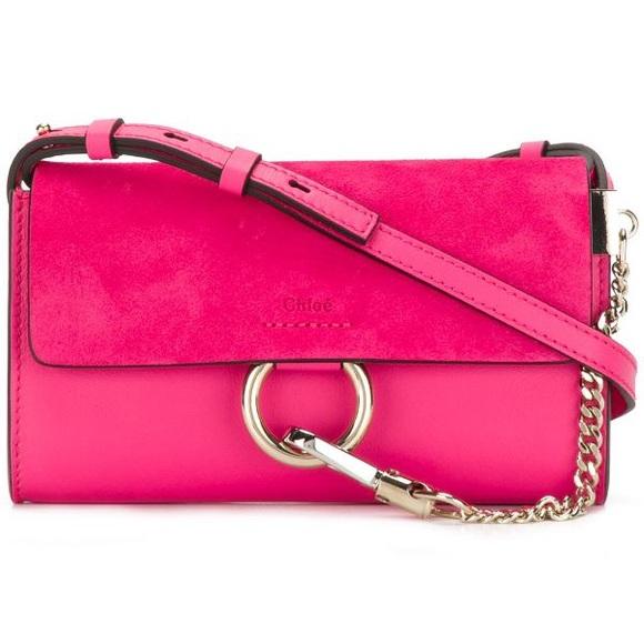 Chloe Handbags - Authentic Chloe Mini Faye bag hot pink 💕